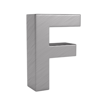Character f on white space. isolated 3d illustration