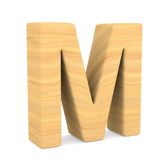 Character m on white space. isolated 3d illustration
