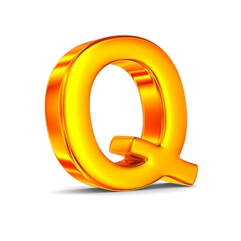 Character q on white space