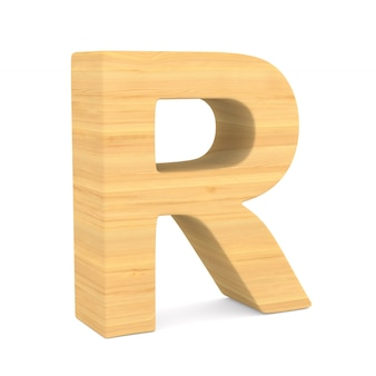Character r on white space. isolated 3d illustration