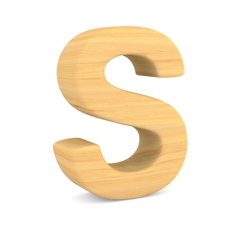 Character s on white space. isolated 3d illustration