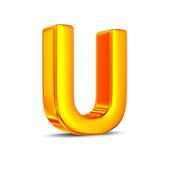 Character u on white space
