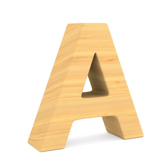 Character a on white space. isolated 3d illustration