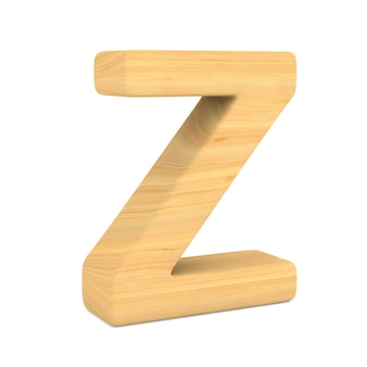 Character z on white space. isolated 3d illustration