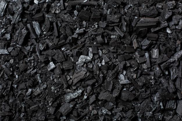 炭の背景。