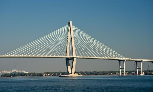 Charleston south carolina inlet water bridge bay