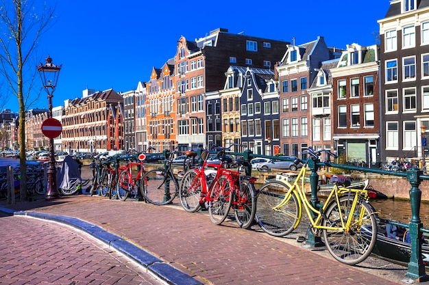Charming amsterdam capital city.