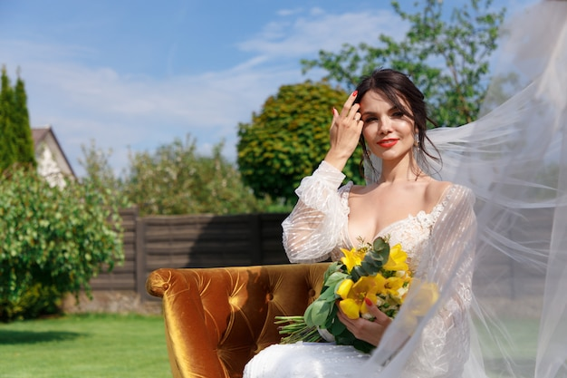 The charming bride