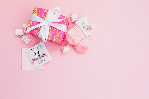 Charming composition for baby shower