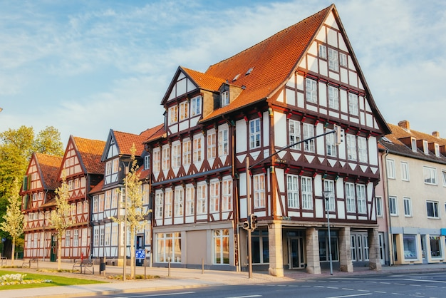 Charming old town in germany Premium Photo
