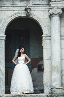 Charming woman on her wedding day
