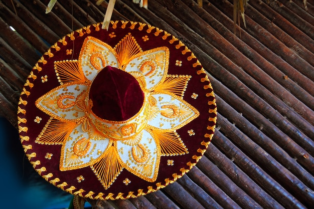 Charro mariachi hat mexican icon from mexico