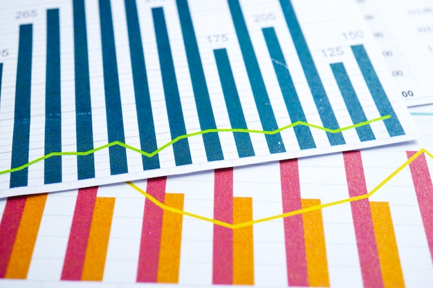 Chart graph paper. financial, account, statistics, analytic research data economy, busines