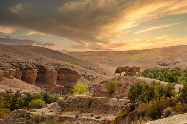 カザフスタンのチャリンキャニオン