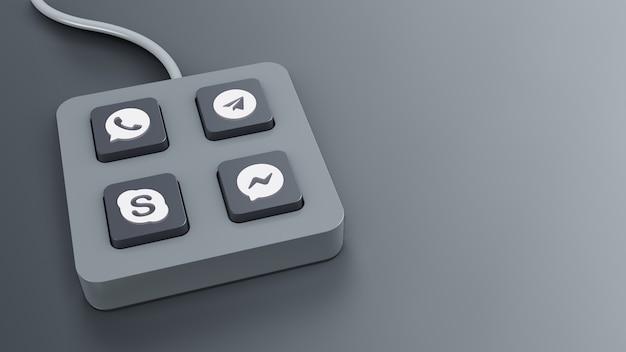 Визуализация гаджета кнопки чата с серым цветом