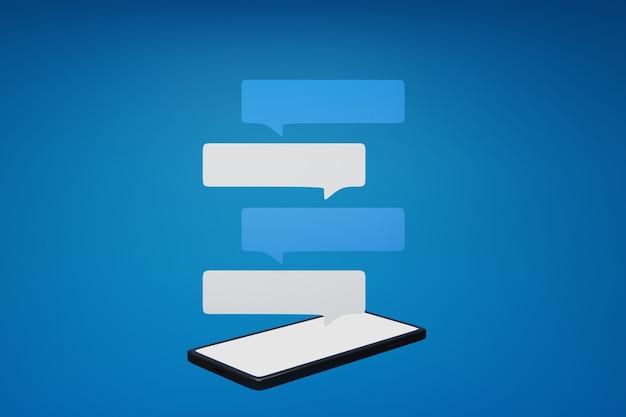 画面のスマートフォンのチャットボックス。