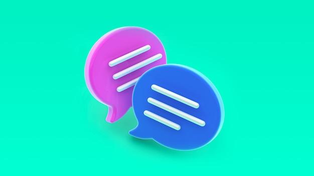 Значок пузыря чата. концепция сообщений в социальных сетях, sms, комментариев.