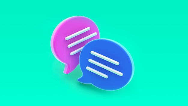 Chat bubble icon. concept of social media messages, sms, comments.
