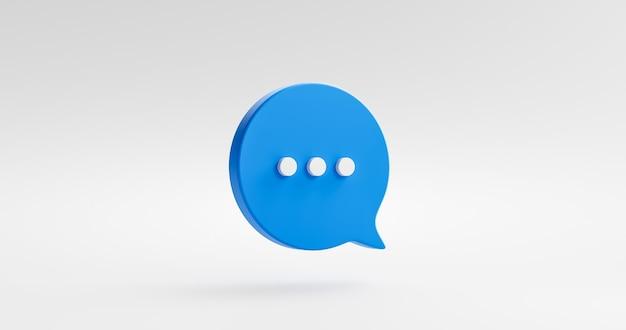 채팅 거품 메시지 음성 대화 아이콘 기호 또는 통신 유형은 흰색 배경에 격리된 플랫 디자인을 이야기하고 풍선 대화를 이야기합니다. 3d 렌더링.