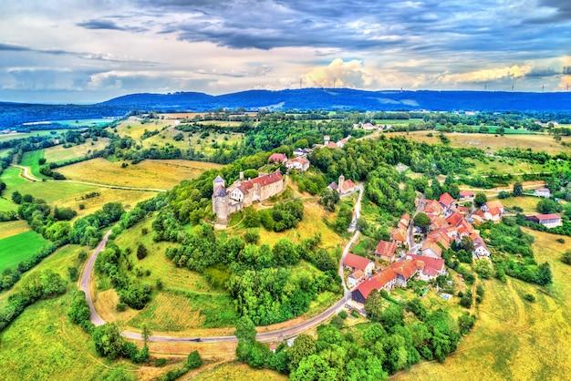 Chateau de belvoir, a medieval castle in the doubs department of the bourgogne-franche-comte region in france
