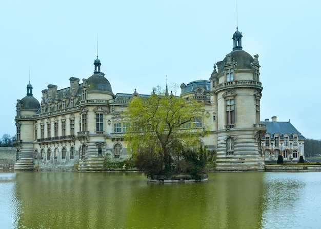 The chateau de chantilly france. the grand chateau rebuilt