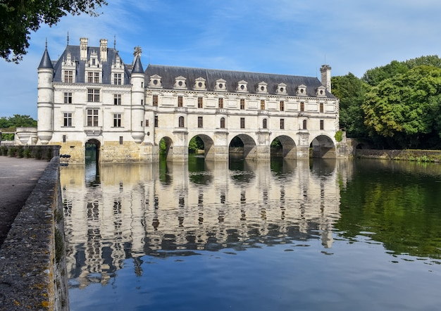 Chateau de chenonceau on the cher river - france, the loire valley