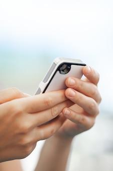 Chatting on smartphone
