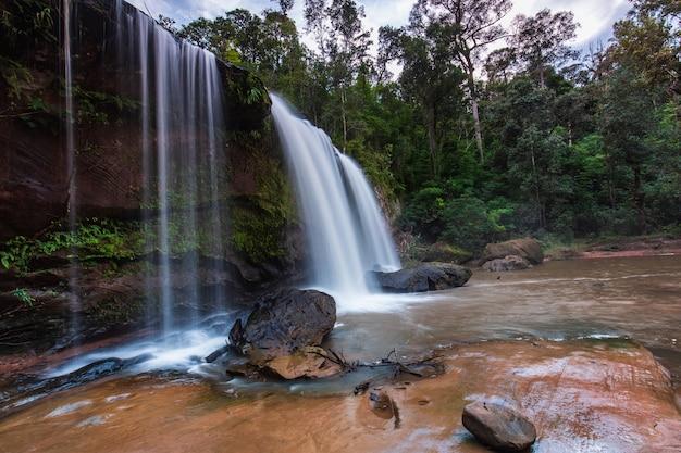 Chattrakan waterfall, beautiful waterfall in chattrakan national park  phitsanulok, thailand.