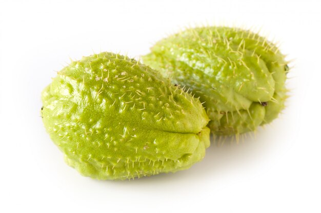 Chayote on white isolated