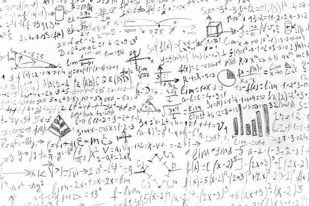 Cheat sheet on white paper written in black pencil