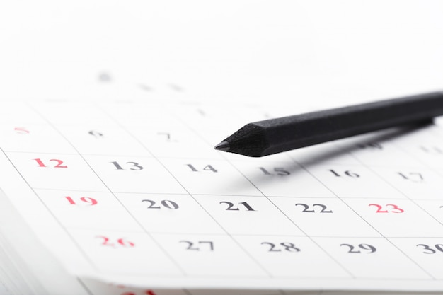 Check out the dates in a business calendar