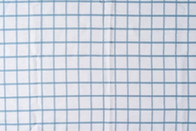 체크 무늬 파란색과 흰색 질감 근접 촬영 패션 개념 파란색 체크 무늬 수건 고해상도