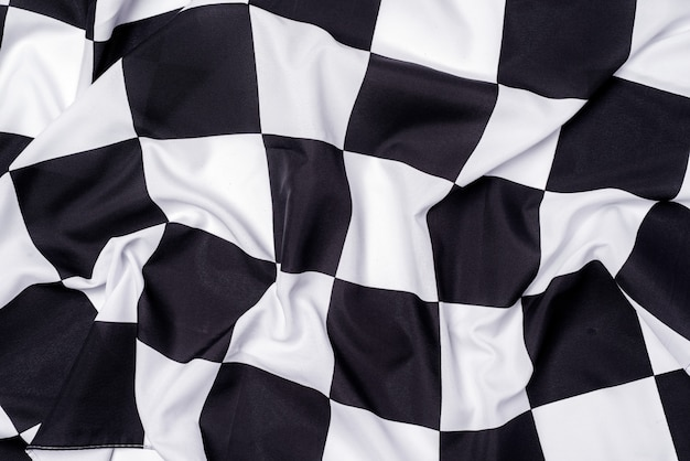Checkered flag, end race background, formula one competition.