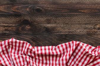 Checkered napkin on table