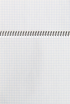 Checkered paper notebook background