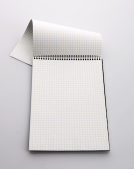 Checkered paper notebook