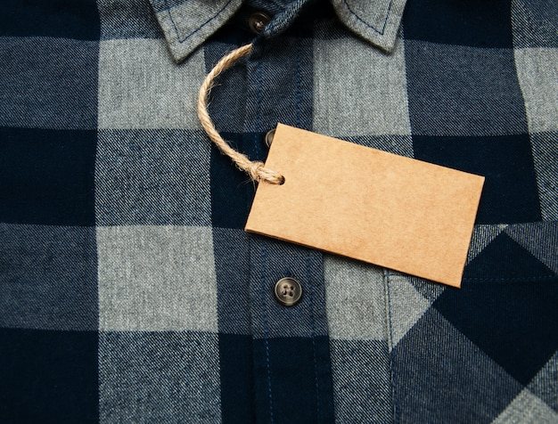 Checkered shirt with tag