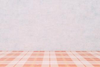 Checkered tabletop near wall