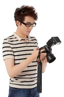 Checking photos