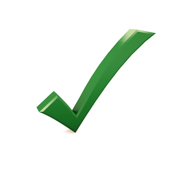 Checkmark on isolated white