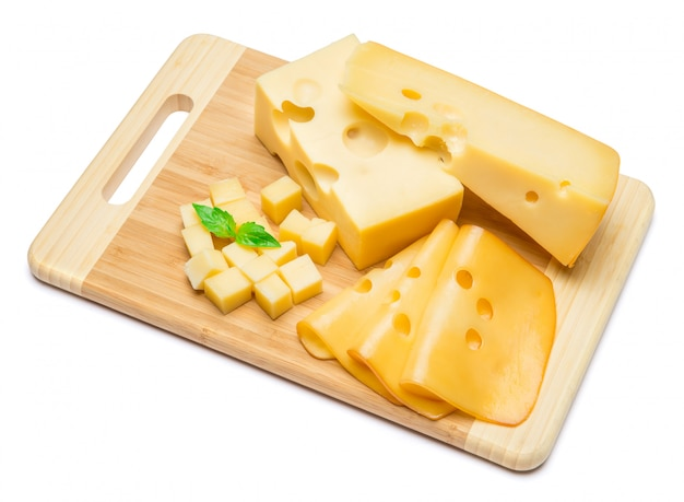 Cheddar cheese  on white wall