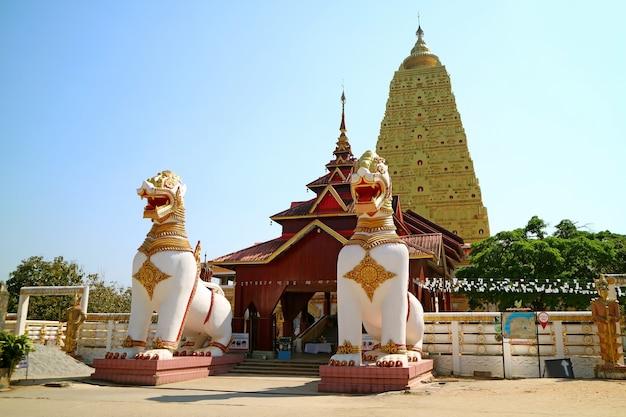 Храм чеди буддакхайя в районе сангхлабури, таиланд