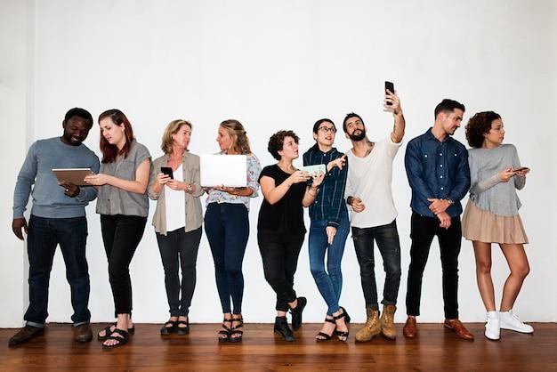 A cheerful fashion designers team