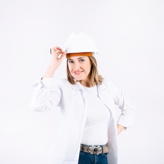 Cheerful female engineer