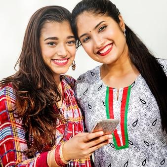 Cheerful indian women