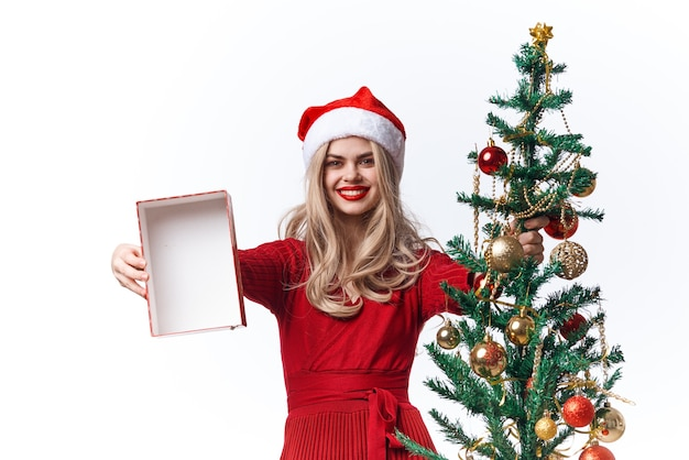 陽気な女性のおもちゃギフトファッションクリスマスの楽しみ