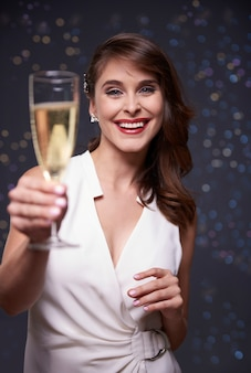 来年の新年に乾杯
