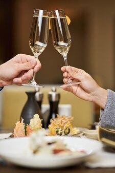 美味しいシャンパンで最高に乾杯
