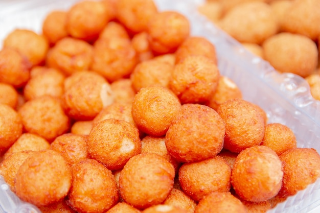 Cheese ball, salty very common in parties in rio de janeiro brazil.