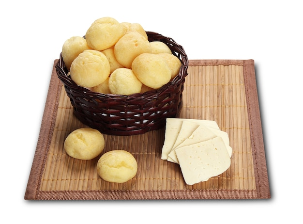 Cheese bread isolated